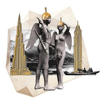 SORRY ANGELS - graphite sur papier - mise en couleur digitale - 21x30 CM