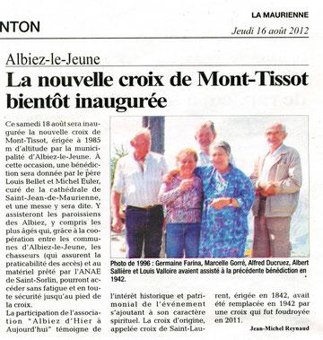 Annonce la Maurienne 16/8/2012