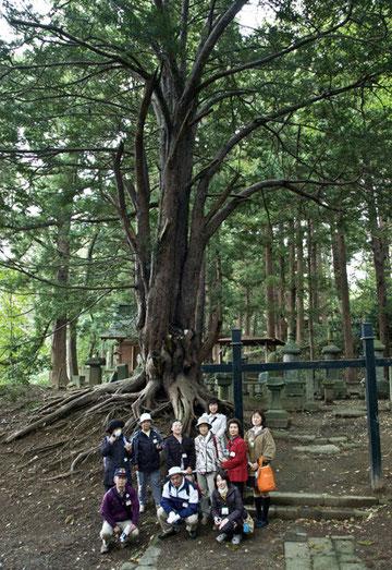 10月7日 八戸市上長公民館 巨木めぐり(会員 山本 参加者10名)