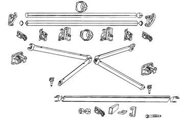 Sistema de montaje de toldo de brazo articulado