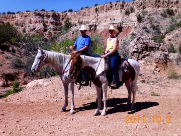 Ausritt im Palo Duro Canyon bei Amarillo