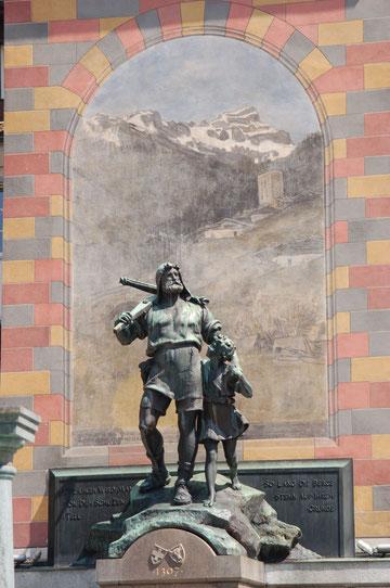 Wilhelm Tell Denkmal Altdorf (in Altdorf war der nächste Einkaufsladen)