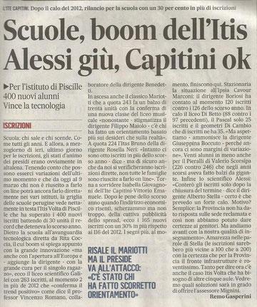 L'articolo di Remo Gasperini