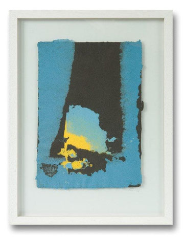 Papiermalerei/Collagetechnik, handgeschöpft, 30 x 40 cm