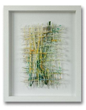 Papierfasern pigmentiert, Kunstfasereinschlüsse, 40 x 50 cm