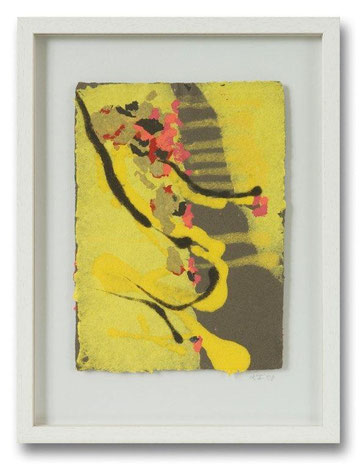 Papiermalerei/ Collagetechnik,Pulpmalerei, handgeschöpft, 30 x 40 cm