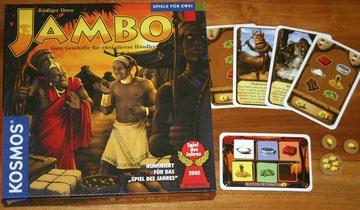 Waka Waka ist der große Bruder des 2-Personenspiels Jambo