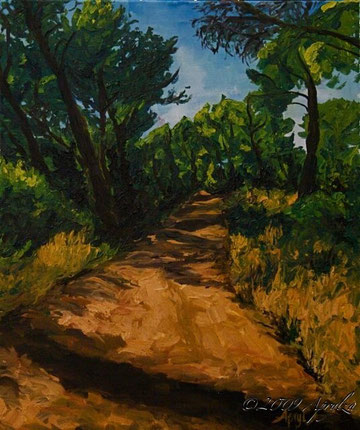 0023-Path Through the Forest in St Marc Jaumegarde, 55/46cm oil on canvas
