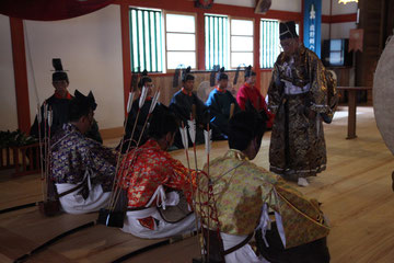 宮司祝詞奏上に続き、総奉行が祭文奏上