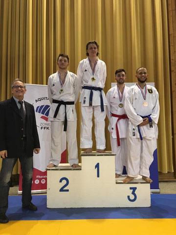 Aurélien Vice-champion de la ZID Aquitaine et 3ème  Région Nouvelle Aquitaine.seniors -75kg