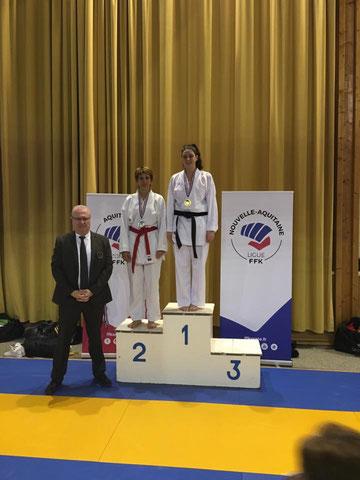 Alizée championne de Gironde 2018, championne de la ZID Aquitaine et de la région Nouvelle Aquitaine.