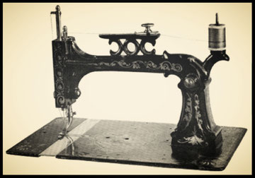 Figure 96.—A. B. Howe sewing machine of about 1860. (Smithsonian photo)