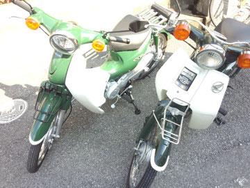 キターーーーーーーーーーーーー!!左のスーパーカブ110です!!また緑色です!!