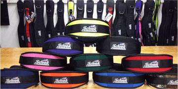 Schiek Lifting belt in allen Farben. Hier können Sie alle Schiek Gürtel in den Farben, schwarz,blau,pink,orange,gelb,digital camo oder in Stars 'n Stripes kaufen
