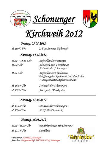 Schonunger Kirchweih 2012