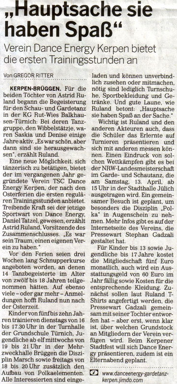 Rhein-Erft-Rundschau vom 06.04.2013