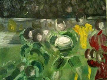 Derby - Peinture à l'huile - 41 x 33