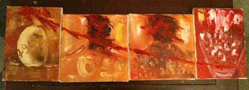 Cot-Cot - 4 toiles - Huile - 15 x 20 et 20 x 20