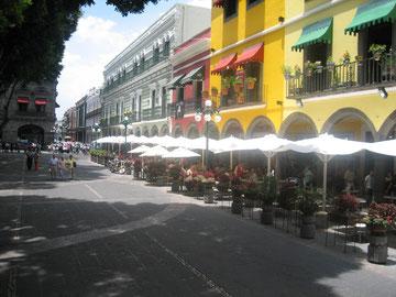 Straße in Puebla