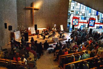 5. Buxtehuder Nacht der spirituellen Lieder, 27. April 2013 in der St. Paulus-Kirche, Buxtehude,   Foto: Anping Richter
