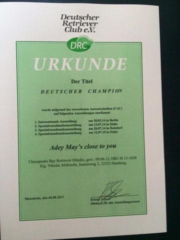 Deutscher Champion im DRC