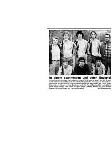 SGS B-Jugend Hallenkreismeister  1976