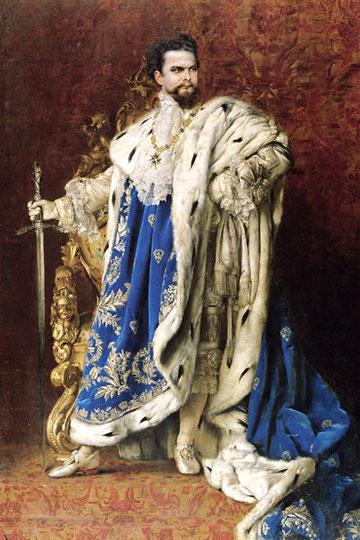 Ludwig II. von Bayern, Gemälde Gabriel Schachinger, 1887