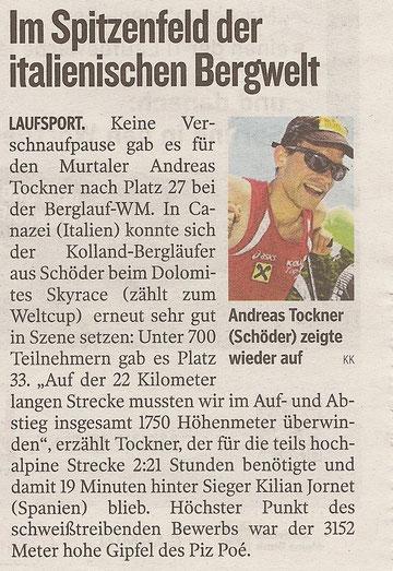 Kleine Zeitung 3.8.2012