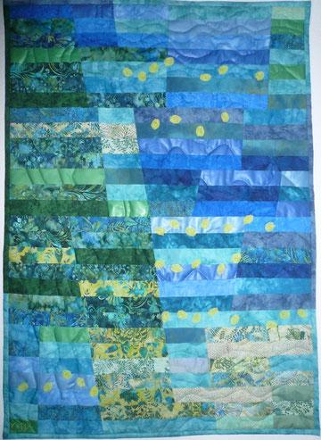 """""""Wassergarten"""", 100 x 130 cm"""