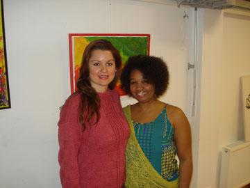 Marina Wagner e Queila Rosa na ABRASA em Viena