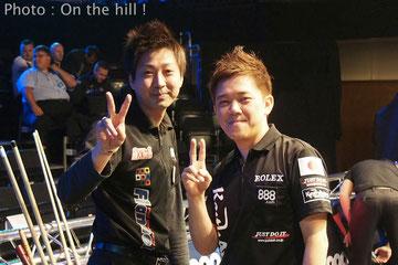 大井直幸(左)&羅立文