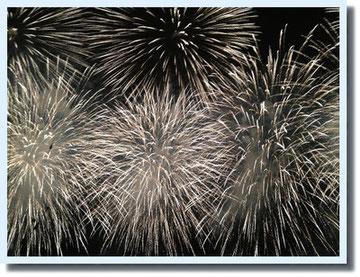 船上から一番近くで観た花火。今までのどの花火よりも感動しました。