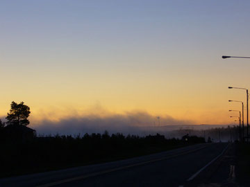Blick auf Rovaniemi