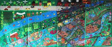 カナダの小学校と共同制作した受賞作品