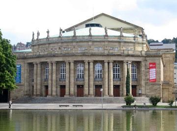 Stuttgarter Oper heute, Architekt Max Littmann, 1909-1912 erbaut, 1912 eröffnet