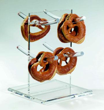 """Support à bretzels / arbre à saucisses """"Franz"""" avec 4 barres 9910010, FMU GmbH, Support à bretzels"""