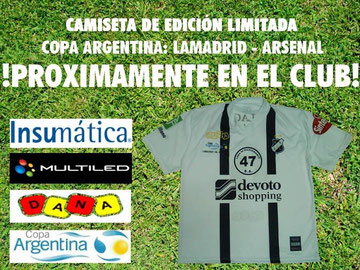 "Camiseta ""Copa Argentina"" Vs. Arsenal"