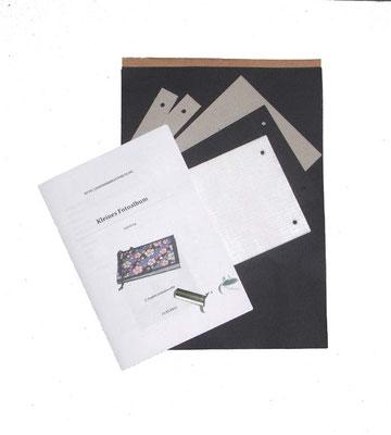 Starterset / Bastelset für ein kleines Fotoalbum. Nun auch mit Buchschrauben !