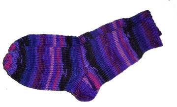 Socke Grösse 39 lila blau