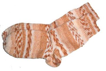Socke Grösse 39 orange braun