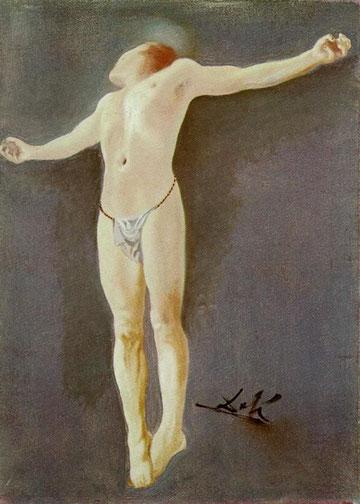 Salvador Dalí-Crucifixión ('Corpus Hypercubus'), 1954