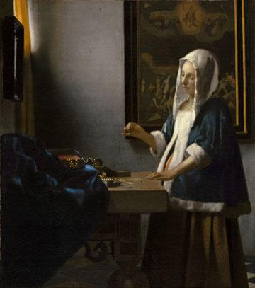 Женщина, удерживающая весы - самые известные картины Яна Вермеера
