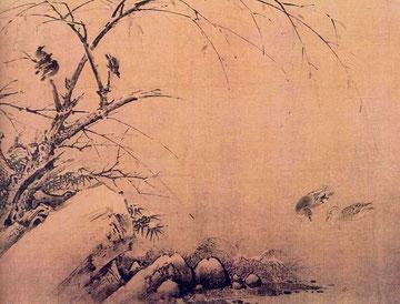 Хуан Цюань. Птицы, снег и бамбук.