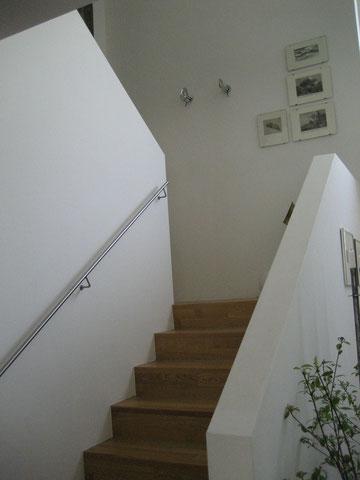 EFH in Burghausen, gemauertes Treppengeländer