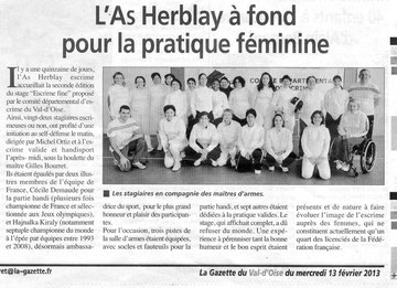 Article GAZETTE DU 95