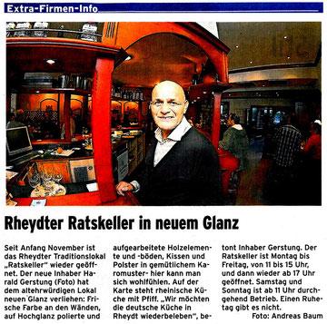 20.01.13 - Stadt Spiegel - Rheydter Ratskeller in neuem Glanz