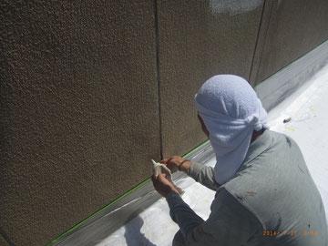 外壁塗装前のコーキング処理
