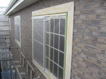 外壁クリアー塗装前