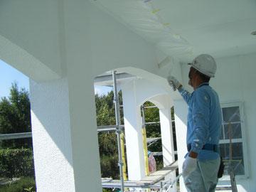外壁防水塗装状況 熊本H様邸