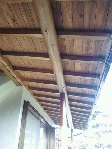 木部天井塗装前